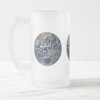 Earth Frosted Glass Beer Mug