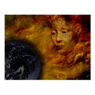 Earth Gaia Environment Digital Collage Postcard