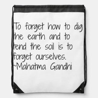 Earth - Gandhi Drawstring Bag