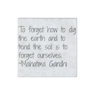 Earth - Gandhi Stone Magnet
