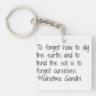 Earth - Gandhi Keychain