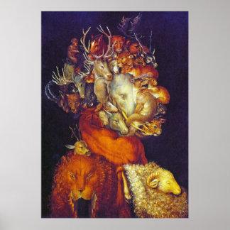 Earth - Giuseppe Arcimboldo Poster