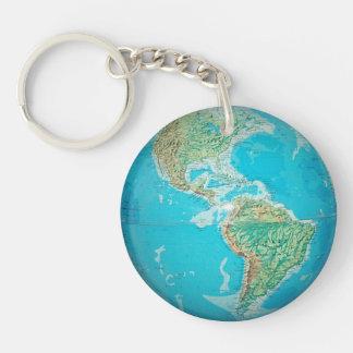 Earth Globe 2 Keychain