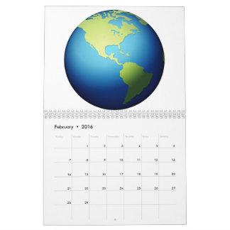 Earth Globe Americas - Emoji Calendar