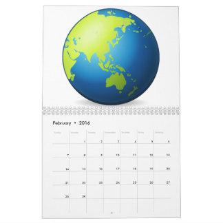Earth Globe Asia - Emoji Calendar