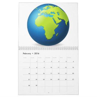 Earth Globe Europe Africa - Emoji Calendar