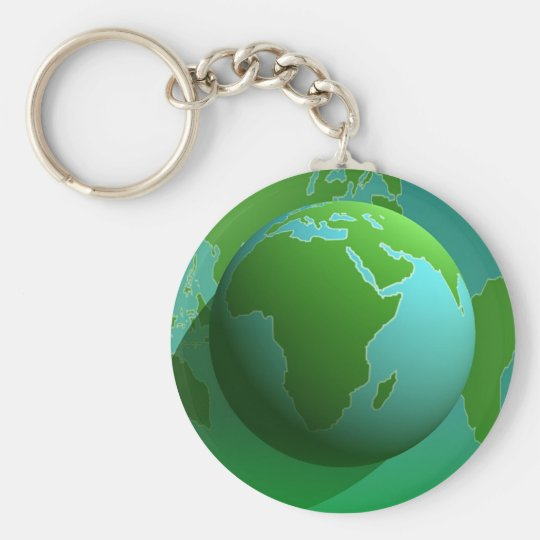 Earth Globe Keychain