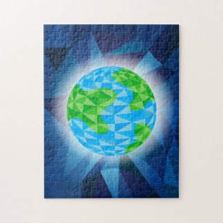 Earth Globe Low Poly Puzzle