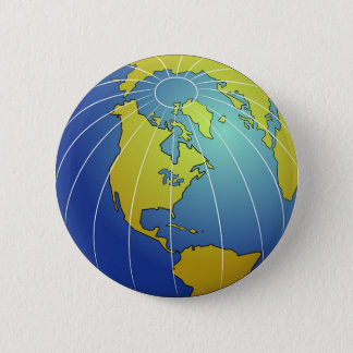 Earth Globe Pinback Button