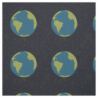 Planet earth fabric zazzle for Fabric planet