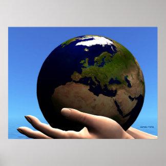 EARTH GLOBE PRINT