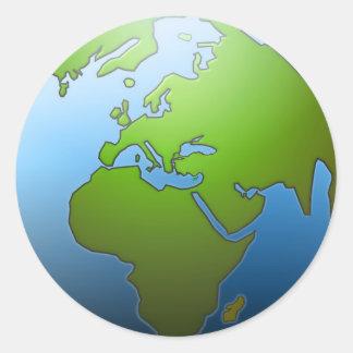 Earth Globe Stickers