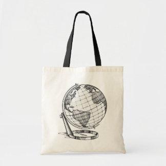 Earth Globe Tote Bag