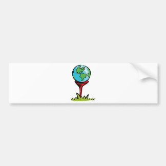 earth golf1 bumper sticker