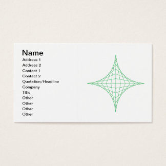 Earth (green) business card