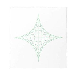Earth (green) notepad