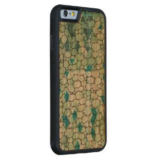 Earth Green, Organic Geometric Pattern Carved® Cherry iPhone 6 Bumper