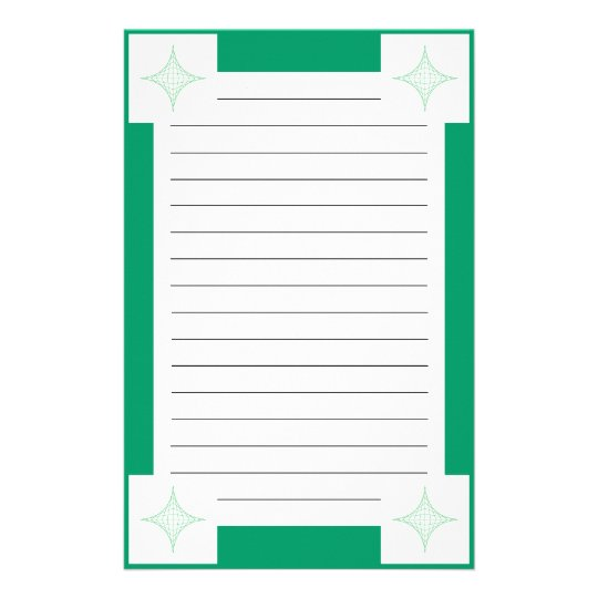Earth (green) stationery