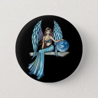 Earth Guardian Angel Fairy Button