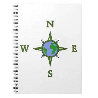 Earth Guides Explorer Travel Compass Spiral Notebook