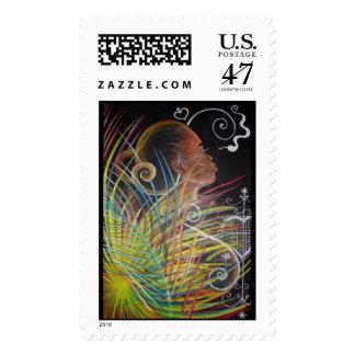 Earth - Haitian Island Spirits Postage Stamp