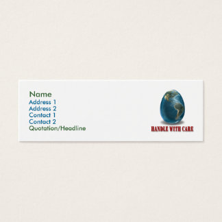 Earth Handle With Care Profile Card