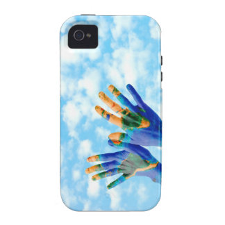 Earth hands iPhone 4/4S cases