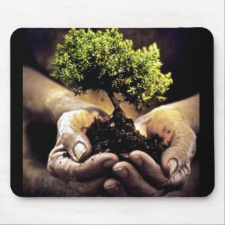 Earth Hands Mouse Pad