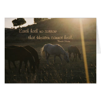 Earth Hath No Sorrow - Sympathy Card