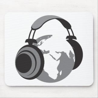 Earth Headphones Mousepad