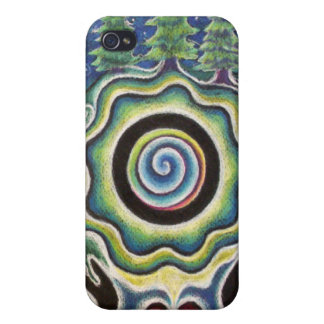 Earth Healing Mandala I phone Case Covers For iPhone 4