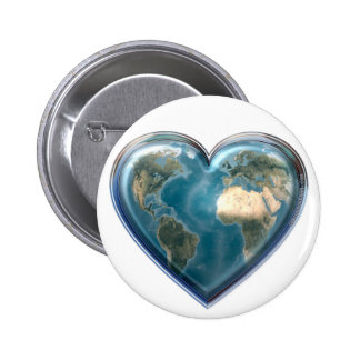 Earth_Heart 2 Inch Round Button