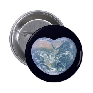 Earth Heart 2 Inch Round Button