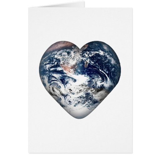 Earth Heart (Add Background Color) Card