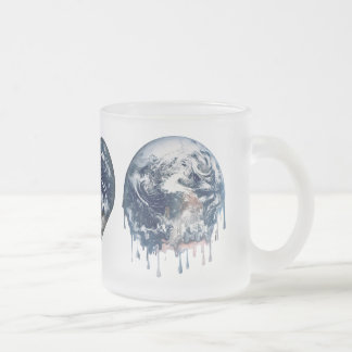 Earth Heart (Add Background Color) 10 Oz Frosted Glass Coffee Mug