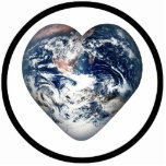 Earth Heart (Add Background Color) Photo Cut Outs