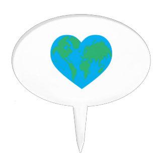 Earth Heart Cake Pick