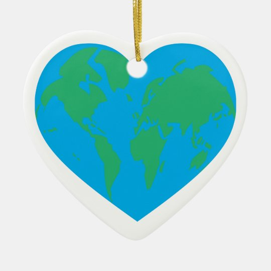 Earth Heart Ceramic Ornament