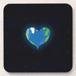 earth heart coaster