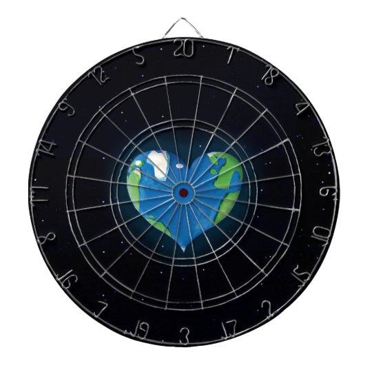 earth heart dart board