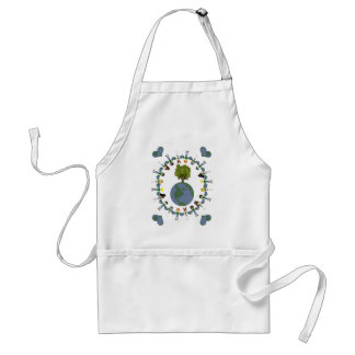 Earth Heart Kids with Tree Aprons