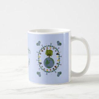 Earth Heart Kids with Tree Coffee Mug