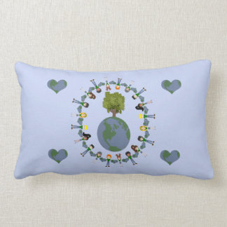 Earth Heart Kids with Tree Throw Pillows