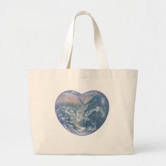 Earth Heart Large Tote Bag