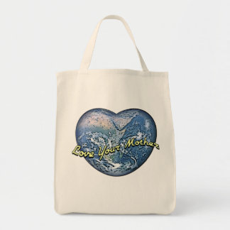 Earth Heart: Love Your Mother Grocery Tote Bag