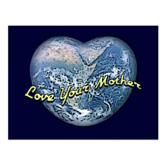 Earth Heart: Love Your Mother Postcard