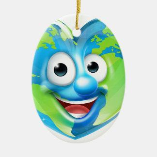 Earth Heart Mascot Cartoon Character Ceramic Ornament