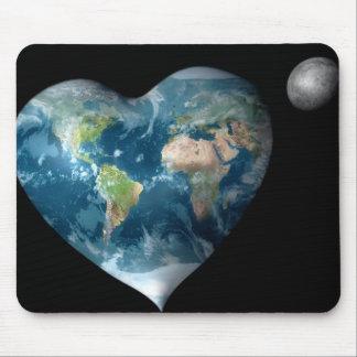 Earth Heart Mouse Pad