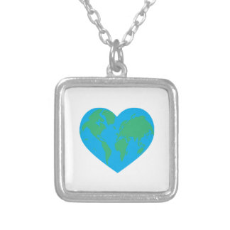 Earth Heart Necklaces