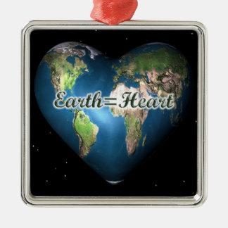 Earth=Heart Christmas Ornament